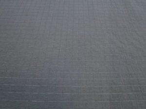 Spinhaken stof grijs/groen ingeweven ruit middel