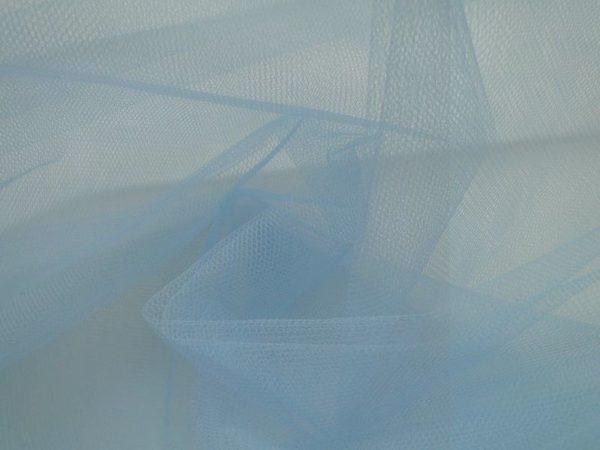 Bruidstule stof baby blauw