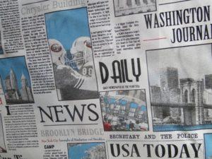 Decoratie gordijn D517 news offwhite