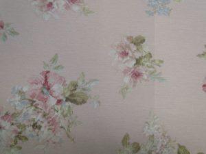 Decoratiestof D54 roze met kleine bloem