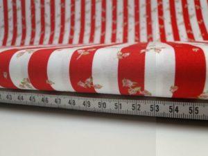 Decoratie stof W751 katoen rood/wit