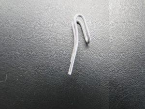 Duplohaak metaal klein