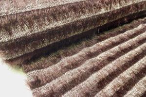 Gebreide stof haartje streep