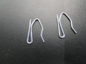 Insteek gordijn haak klein metaal per stuk