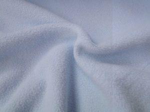 Fleece katoen stof babyblauw
