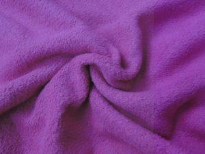 Fleece katoen stof fuchsia