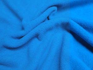 Katoen stof fleece turqoise blauw H1176