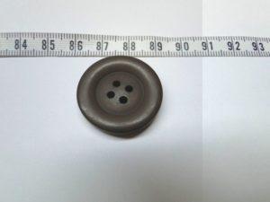 Knoop 5 ca 27 mm donker bruin
