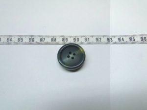 Knoop 6 groen/blauw geel ca 20 mm