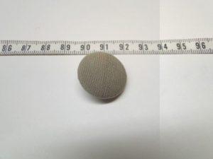 Knoop 7 beige/zand stofknoop op stift ca 20 mm