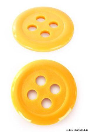 Knopen kunststof  geel
