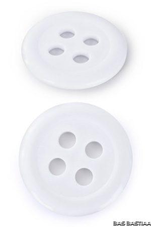 Knopen kunststof wit