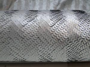 Paillette stof allover zilver