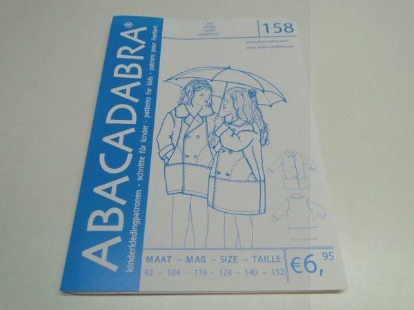SALE!! Patroon Abacadabra 158 ruime jas met grote zakken