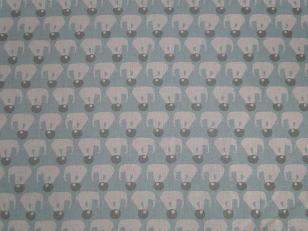 Poplin katoen circus olifant print
