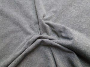 tijdelijk uitverkocht Tricot katoen stof antraciet grijs melee
