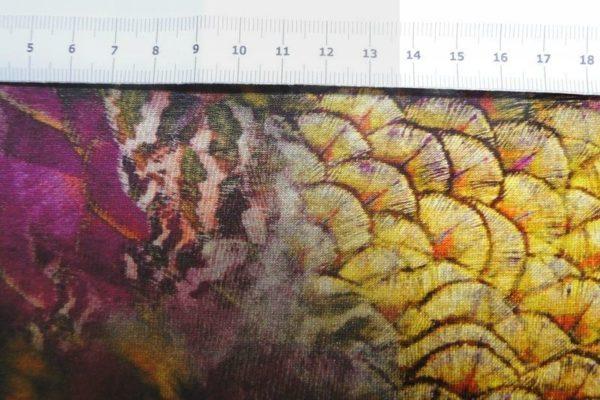 digitale print donsveren paars ecru geel B0727