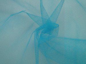 Tule stof aqua blauw