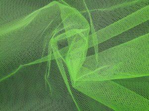 Tule stof fluor groen