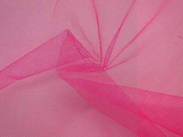 TIJDELIJK UITVERKOCHT Tule stof fluor roze