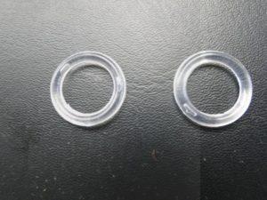 Vouwgordijn ringetje doorsnee ca 2cm kunststof doorschijnend per stuk