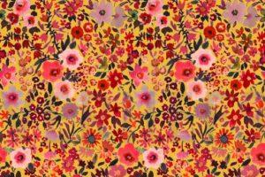 Poplin katoen, bloem print