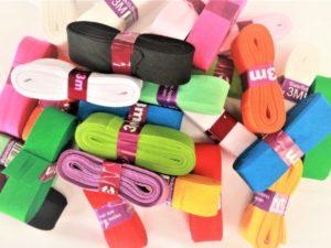 Biaisband katoen - 34 kleuren