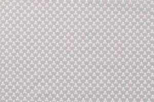 Poplin katoen stof, doodshoofden print, grijs/wit.