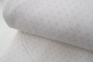 Aanbieding wafeldoek met badstof, sterretjes, wit