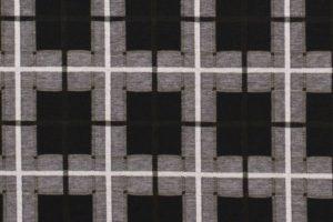 Jersey stof, ruit print, zwart wit groen