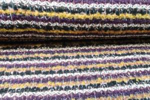 Gebreide stof, los, paars/zwart/off-white