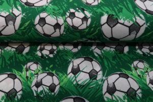 Texture stof, voetbal print, groen zwart wit