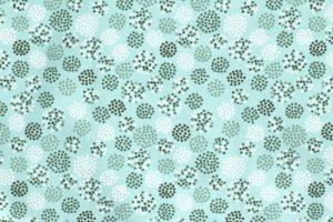 Poplin katoen stof, stippen print, mint groen wit
