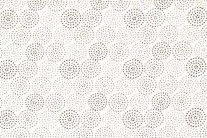 Viscose stof, gestipte cirkels, wit/zwart