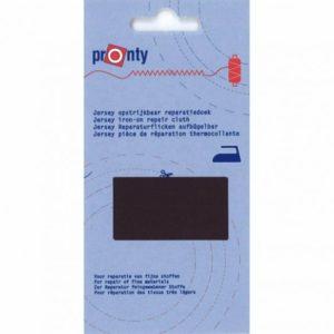 Pronty jersey reparatiedoek, opstrijkbaar, zwart