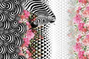 Q4852-stenzo-panel-digitale-print-zebra-bloemen-zwart-wit-roze