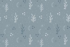 Tricot katoen stof, takjes met sterretjesprint, licht blauw/wit. Q5556
